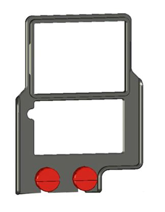 "Picture of Z-Finder 3"" Mounting Frame for Tall DSLR Bodies"