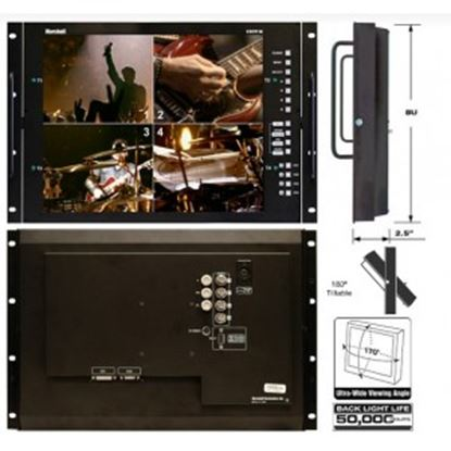 Picture of V-R171P-4A 17' Rack Mountable LCD Monitor with Quad Splitter & Switcher, NTSC format only