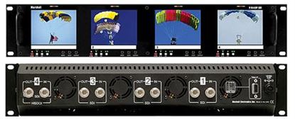 Picture of V-R44DP-SDI Four 4' Ultra High Resolution LCD Screen Rack Mount Panel with SDI Input