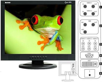 Immagine di M-LYNX-20SDI 20' A/V monitor with SD/SDI BNC loop through